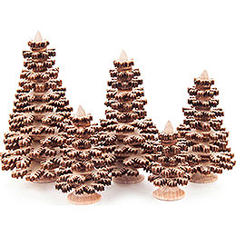 Layered Trees - Conifers Natural - 5 pieces - 8 cm / 3.1 inch
