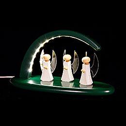 Leuchterbogen - Engel - grün - 24x13 cm