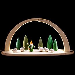 Leuchterbogen - Schäferwichtel - 42x21 cm