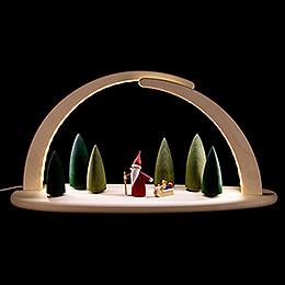 Leuchterbogen - Weihnachtswichtel - 42x21 cm