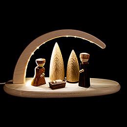 Leuchterbogen mit LED - Christi Geburt - 24x13 cm