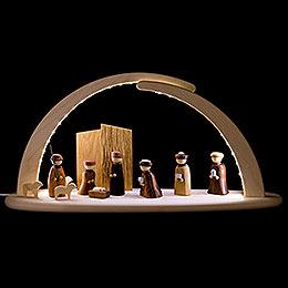 Leuchterbogen mit LED - Christi Geburt - 42x21x13 cm