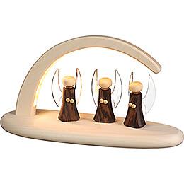 Leuchterbogen mit LED - Engel  - 24x13 cm