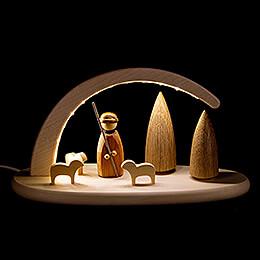 Leuchterbogen mit LED - Schäfer - 24x13 cm