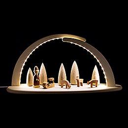 Leuchterbogen mit LED - Weihnachtsmotiv - 42x21 cm