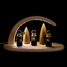 Leuchterbogen mit LED - Weihnachtssänger - 24x13 cm