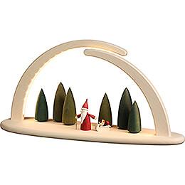Leuchterbogen mit LED - Weihnachtswichtel - 42x21 cm