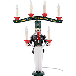 Lichterbergmann mit Joch, farbig, elektrisch beleuchtet - 46 cm