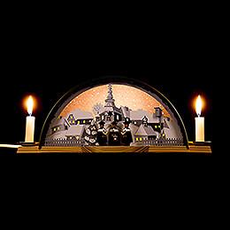 Lichterbogen mit Kurrende und Erzbogen - 33x14 cm