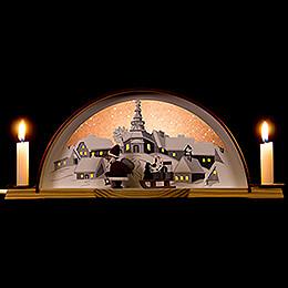 Lichterbogen mit Weihnachtsmann - 33x14 cm