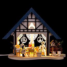 Lichterfachwerkhaus Backstübchen - 17 cm