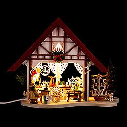 Lichterfachwerkhaus Pyramidenhaus - 17 cm