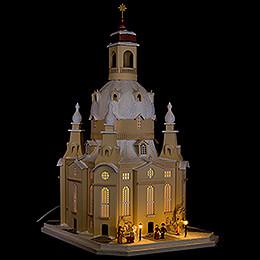 Lichterhaus Dresdner Frauenkirche, Sandstein, LED - 51 cm