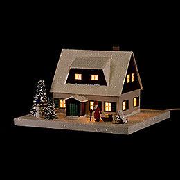 Lichterhaus Erzgebirgshaus mit Vorhäusel - 11,5 cm