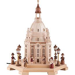 Lichterhaus Frauenkirche Dresden 120V - 24x21x28 cm