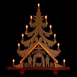 Lichterspitze Baum mit Bergleuten - 76x86 cm