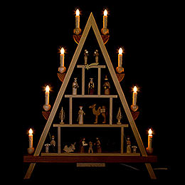 Lichterspitze Christi Geburt - 55x68 cm