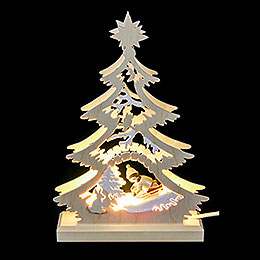 Lichterspitze Mini-Baum Rodler - LED - 23,5x15,5x4,5 cm