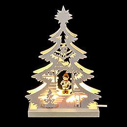 Lichterspitze Mini-Baum Weihnachtsmarkt - LED -23,5x15,5x4,5 cm