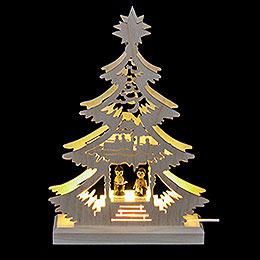Lichterspitze Mini-Baum Weihnachtssänger - LED -23,5x15,5x4,5 cm