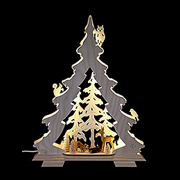 Lichterspitze Tanne Waldidylle - 32x42x7,5 cm