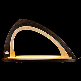 Light Arch without Figurines - Asymmetrical Brown/Natural - 52x29,7 cm / 20.5x11.7 inch