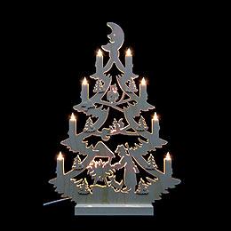 Light Triangle - Christmas Tree - 47x34x5,5 cm / 18x13x2 inch