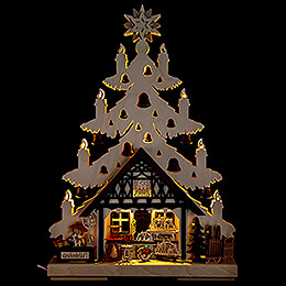 Light Triangle - Fir Tree - Gift Shop - 32x44 cm / 12.6x17.3 inch