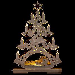 Light Triangle - Fir Tree - Heavenly Musicians - 32x44 cm / 12.6x17.3 inch