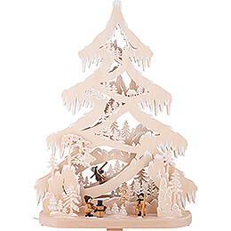 Light Triangle - Fir Tree - Sledding Hill - 43x56 cm / 16.9x22 inch