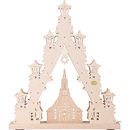 Light Triangle - 'Seiffen Church' - 44x38 cm / 17.3x15 inch