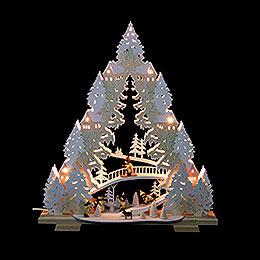 Light Triangle - 'Sledding on Goat Mountain' - 44x50x11 cm / 17x20x4,3 inch