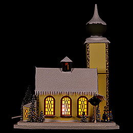 Lighted House Alpine Church - 37 cm / 14.6 inch