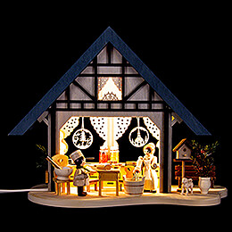 Lighted House - Bakery - 17 cm / 6.7 inch
