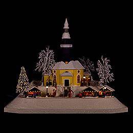 Lighted House Christmas Market - 26 cm / 10.2 inch