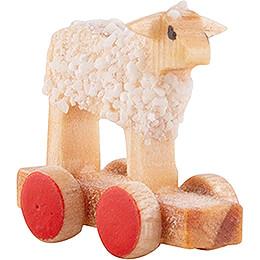 Little Lamb on Wheel Board - 1,3 cm / 0.5 inch