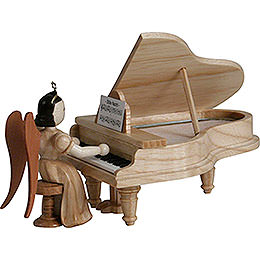 Long Pleated Skirt Angel at the Piano, Natural - 6,6 cm / 2.6 inch