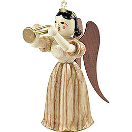 Long Pleated Skirt Angel with Trumpet, Natural - 6,6 cm / 2.6 inch