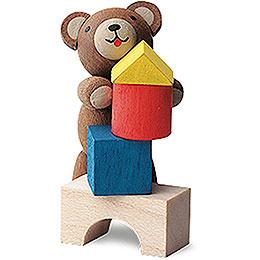 Lucky Bear Builder - 4 cm / 1.6 inch