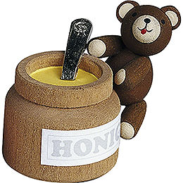 Lucky Bear with Honey Pot - 4 cm / 1.6 inch