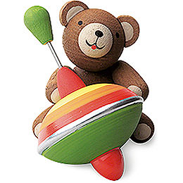 Lucky Bear with Humming Top - 3 cm / 1.2 inch