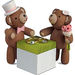 Lucky Bears Wedding Couple - 3,5 cm / 1.4 inch