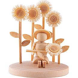 Mädchen mit Sonnenblumen - 3,5 cm