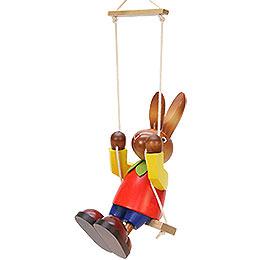 Male Bunny on Swing - 20 cm / 7.9 inch