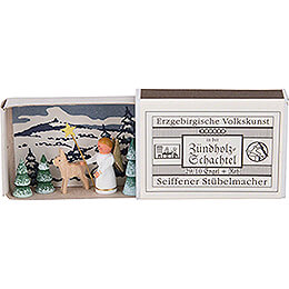 Matchbox - Angel with Deer - 3,8 cm / 1.5 inch