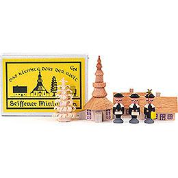 Matchbox - Seiffen Church with Carolers - 4 cm / 1.6 inch