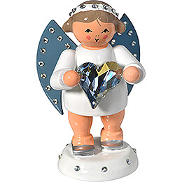 Messenger of Friendship with SWAROVSKI-Heart and Candle Holder - 6 cm / 2.4 inch