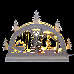 Mini Candle Arch - Mining - 23x15x4,5 cm / 9x6x2 inch