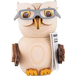Mini-Eule mit Brille - 7 cm