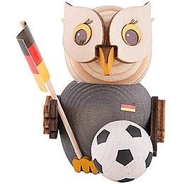 Mini-Eule mit Fußball - 7 cm
